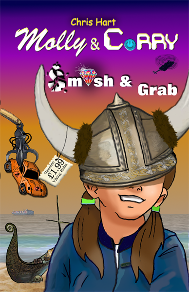 Image of the cover of Book 3 showing Molly wearing and oversize warrior helmet.